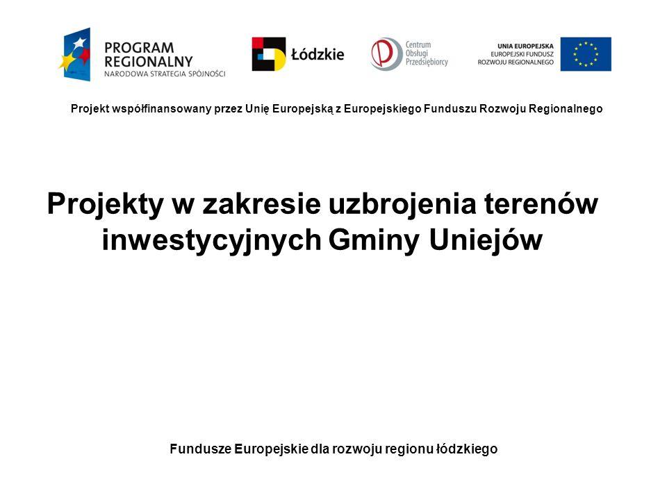 Projekty w zakresie uzbrojenia terenów inwestycyjnych Gminy Uniejów