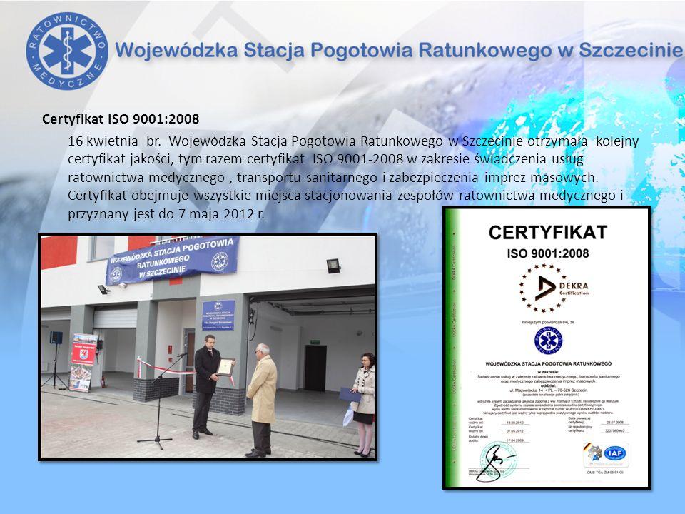 Certyfikat ISO 9001:2008 16 kwietnia br