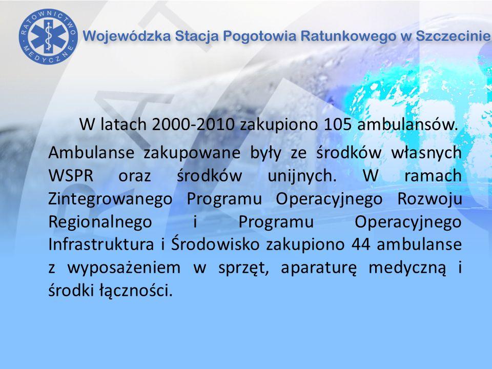 W latach 2000-2010 zakupiono 105 ambulansów.