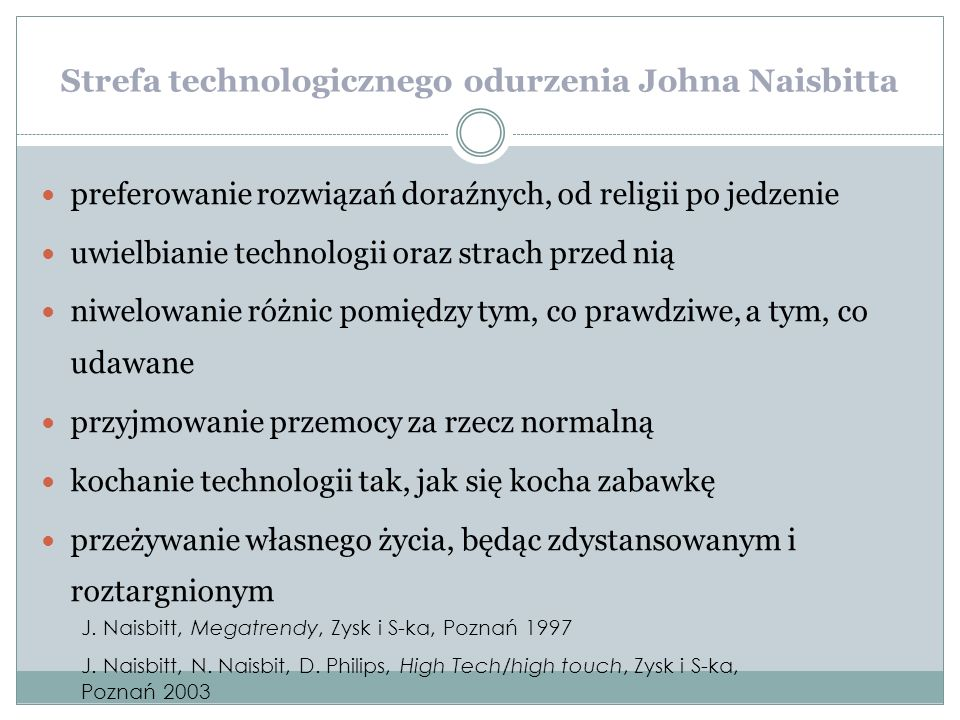 Strefa technologicznego odurzenia Johna Naisbitta