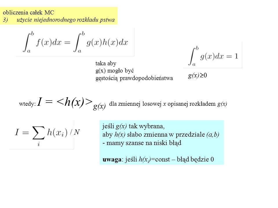 / N g(x)0 jeśli g(x) tak wybrana,