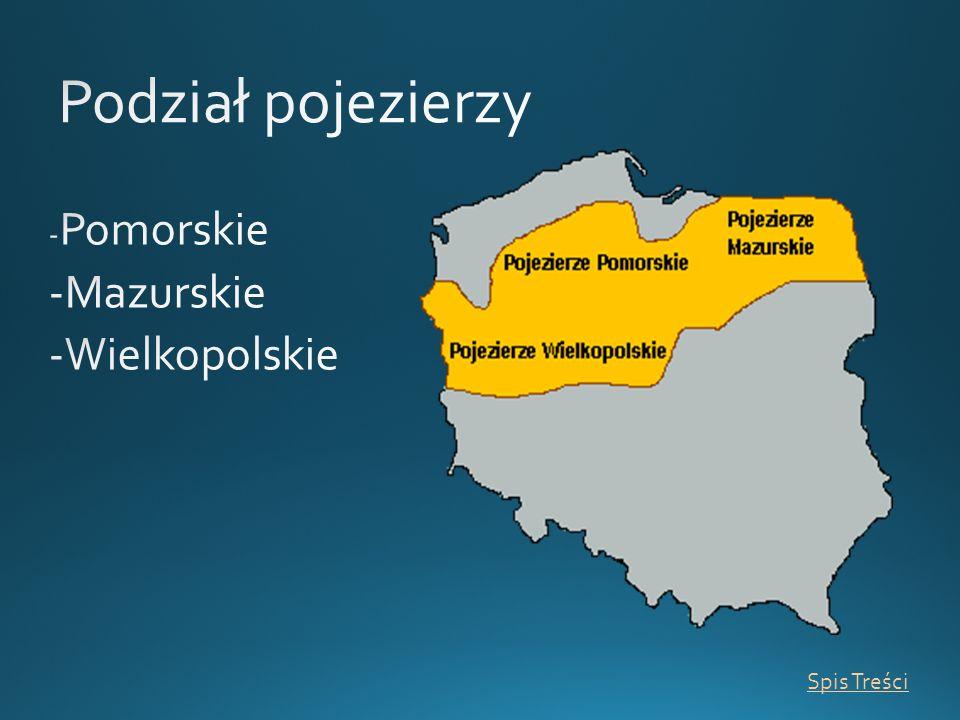Podział pojezierzy -Pomorskie -Mazurskie -Wielkopolskie Spis Treści