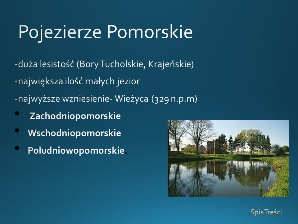 Pojezierze Pomorskie -duża lesistość (Bory Tucholskie, Krajeńskie)