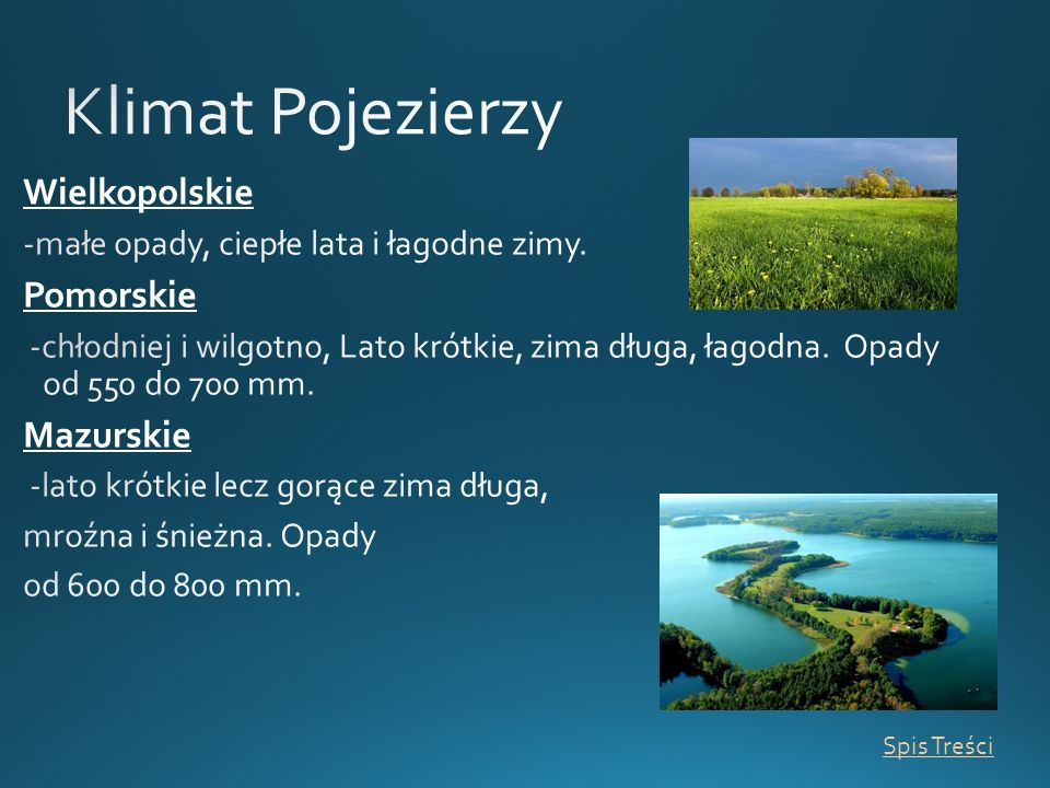 Klimat Pojezierzy Wielkopolskie Pomorskie Mazurskie