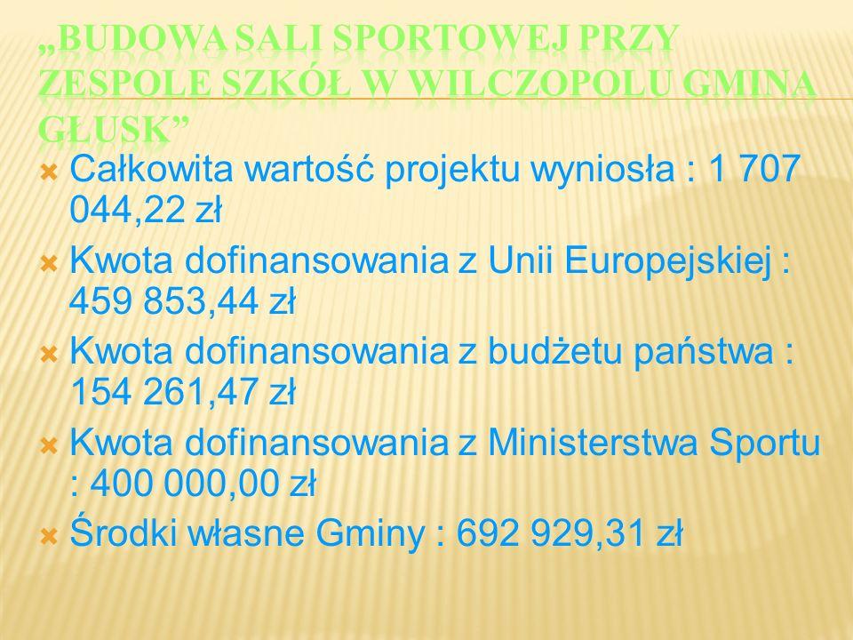 """""""Budowa sali sportowej przy Zespole Szkół w Wilczopolu gmina Głusk"""