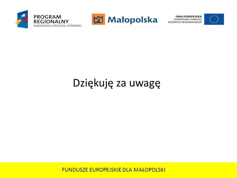 FUNDUSZE EUROPEJSKIE DLA MAŁOPOLSKI
