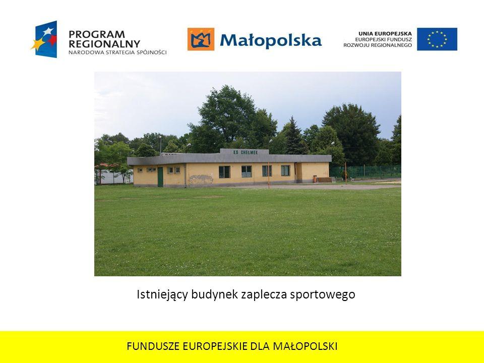 Istniejący budynek zaplecza sportowego