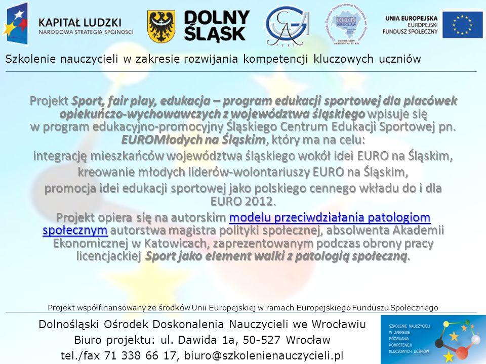 kreowanie młodych liderów-wolontariuszy EURO na Śląskim,