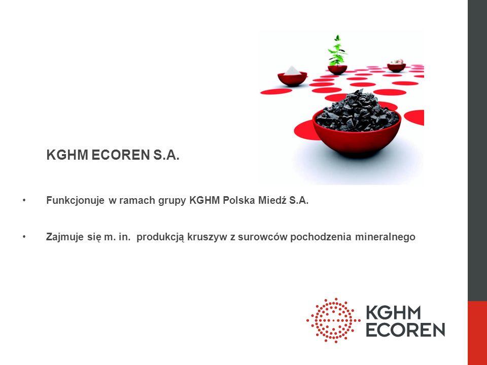 KGHM ECOREN S.A. Funkcjonuje w ramach grupy KGHM Polska Miedź S.A.