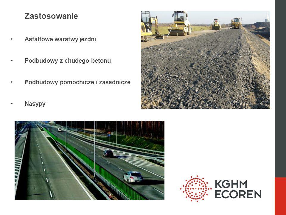 Zastosowanie Asfaltowe warstwy jezdni Podbudowy z chudego betonu