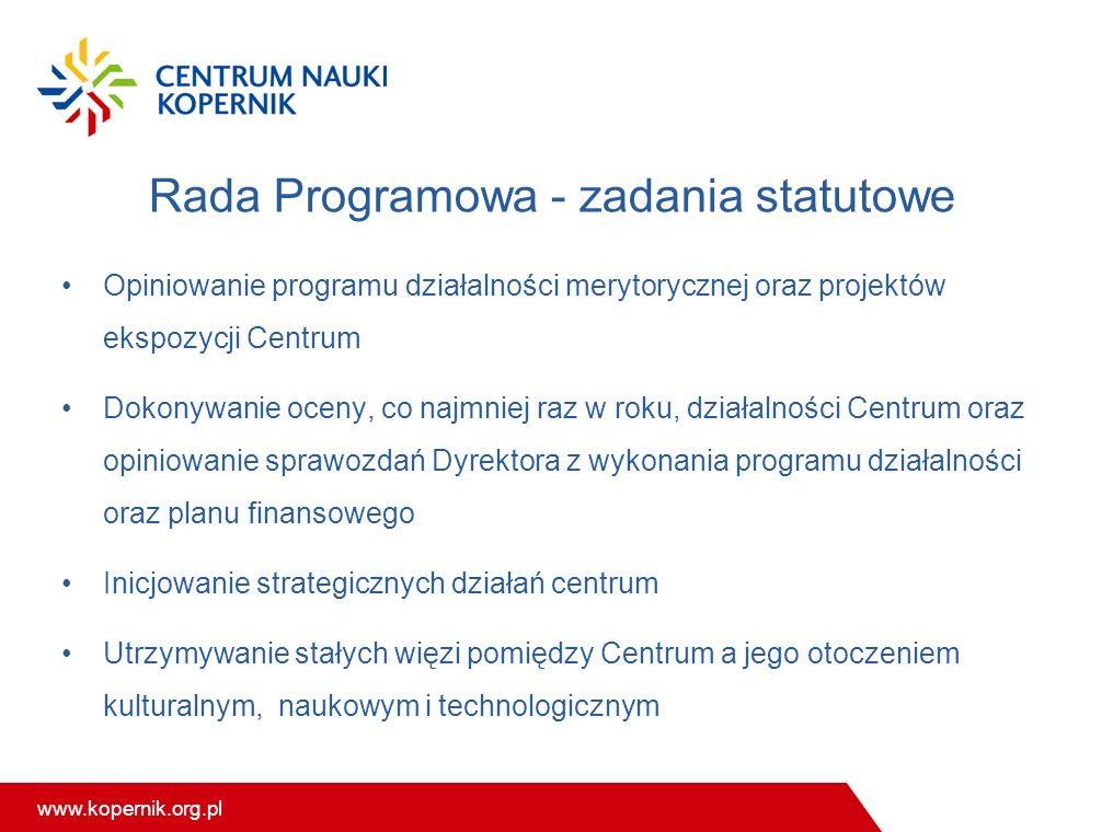 Rada Programowa - zadania statutowe