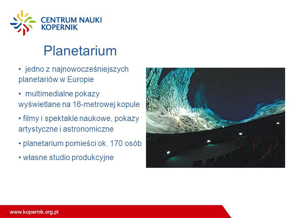 Planetarium jedno z najnowocześniejszych planetariów w Europie