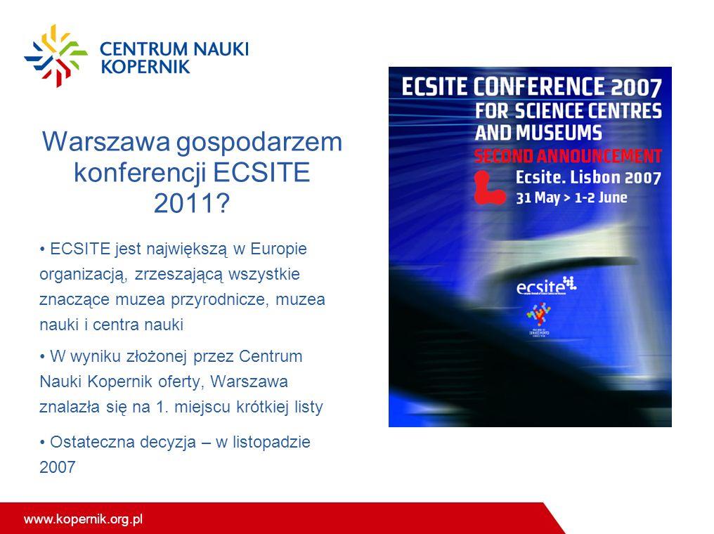 Warszawa gospodarzem konferencji ECSITE 2011