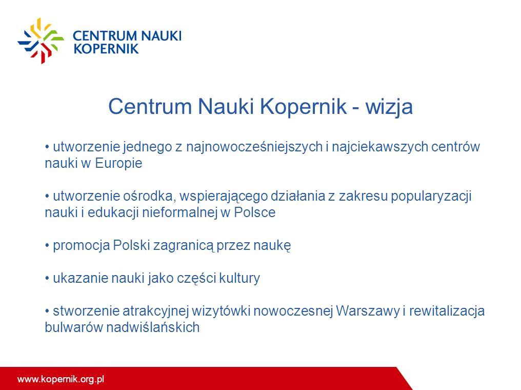 Centrum Nauki Kopernik - wizja