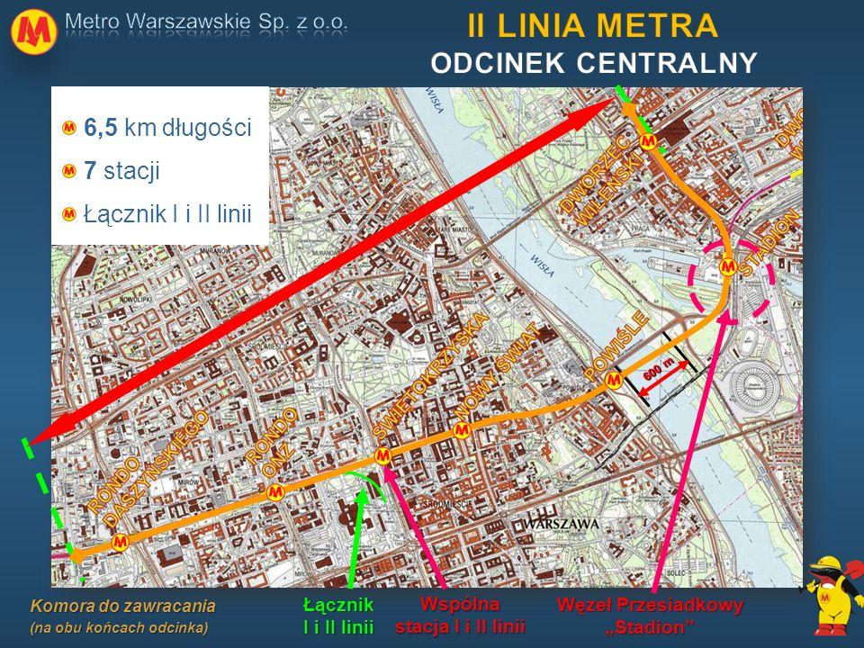 """II LINIA METRA ODCINEK CENTRALNY Węzeł Przesiadkowy """"Stadion"""