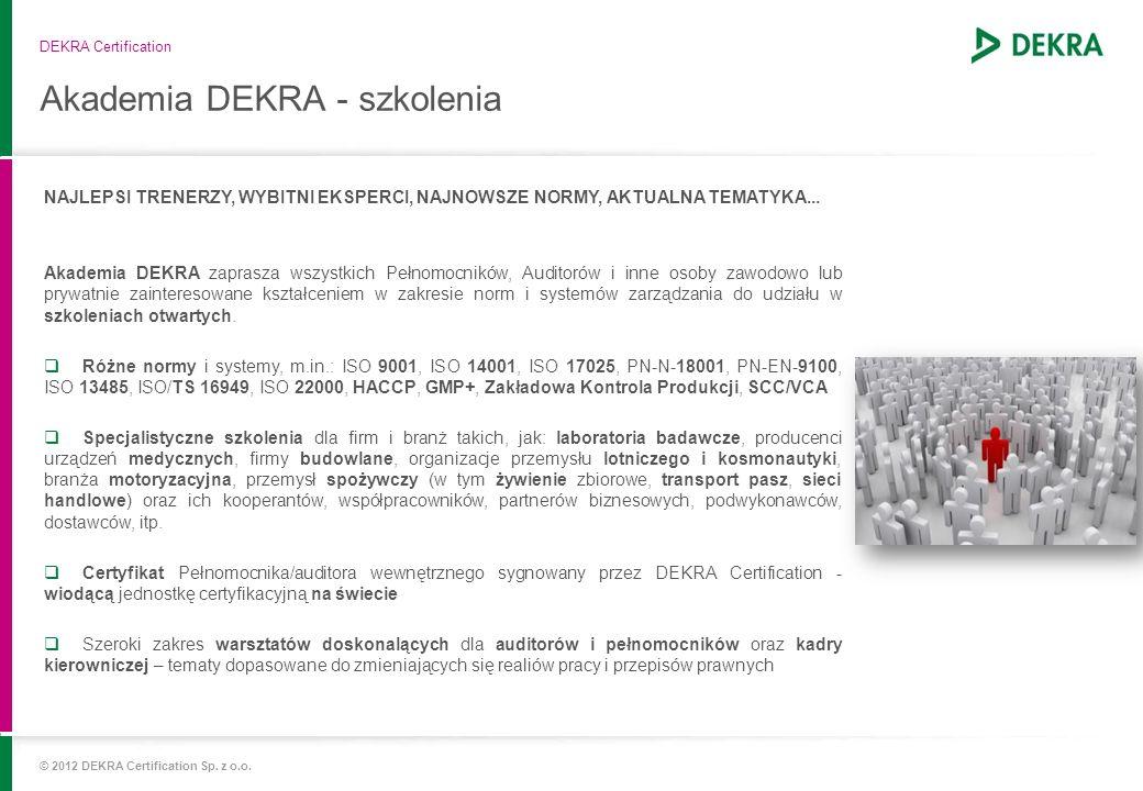 Akademia DEKRA - szkolenia
