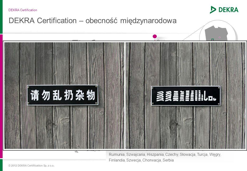 DEKRA Certification – obecność międzynarodowa