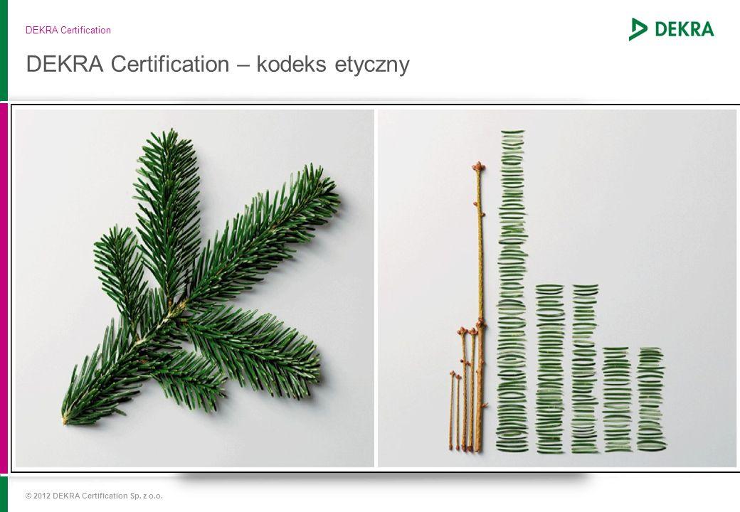 DEKRA Certification – kodeks etyczny