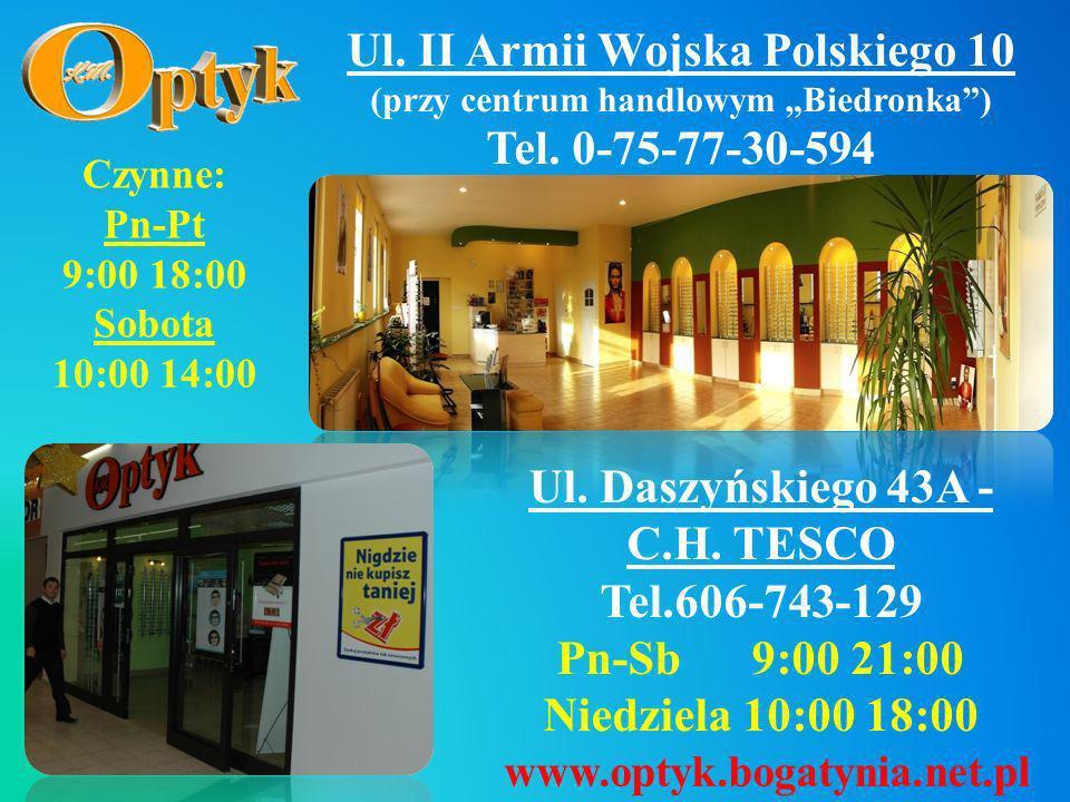 Ul. II Armii Wojska Polskiego 10 Tel. 0-75-77-30-594