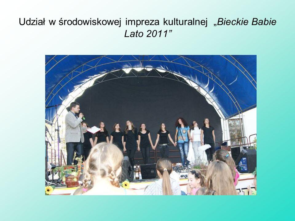 """Udział w środowiskowej impreza kulturalnej """"Bieckie Babie Lato 2011"""