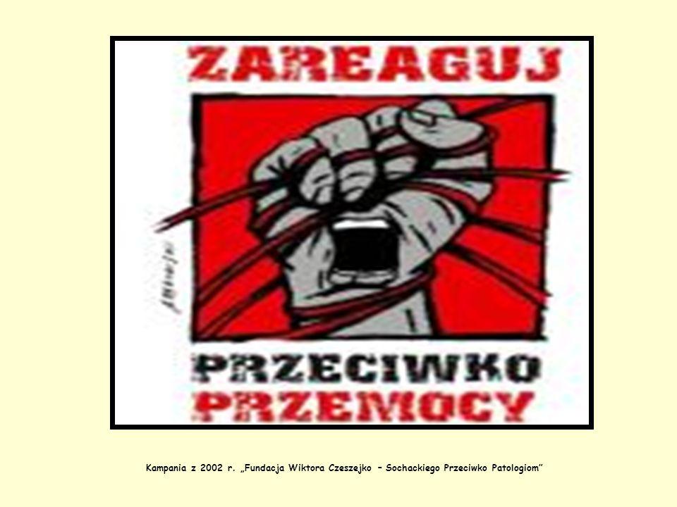 """Kampania z 2002 r. """"Fundacja Wiktora Czeszejko – Sochackiego Przeciwko Patologiom"""