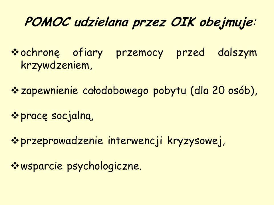 POMOC udzielana przez OIK obejmuje: