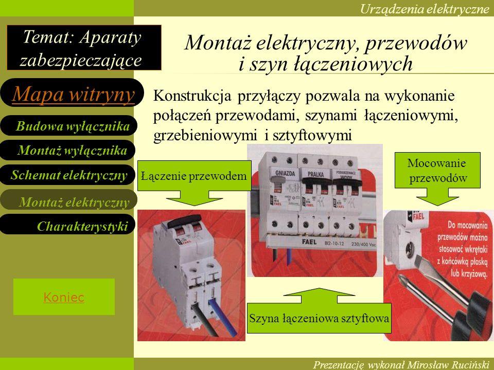 Montaż elektryczny, przewodów i szyn łączeniowych
