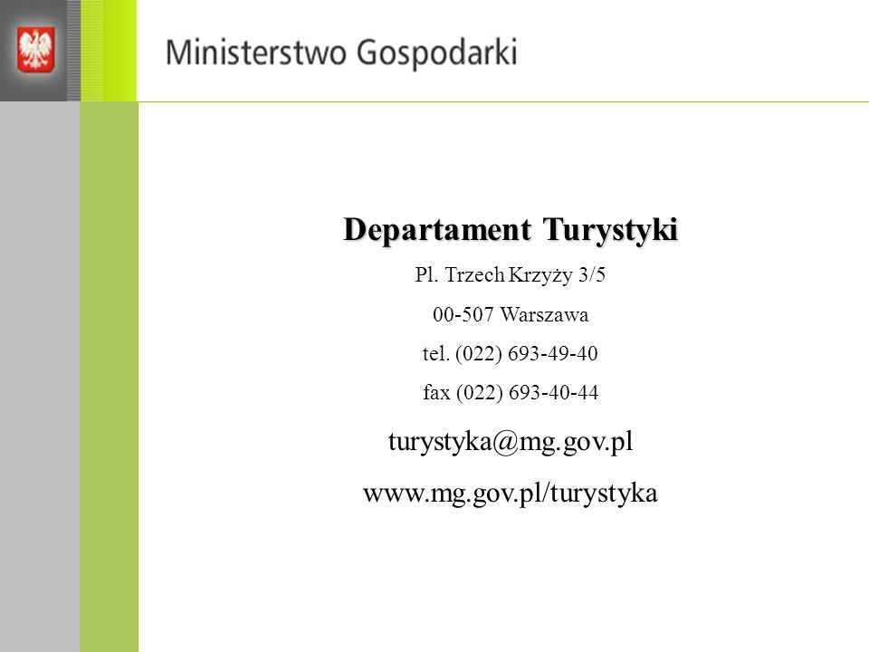 Departament Turystyki