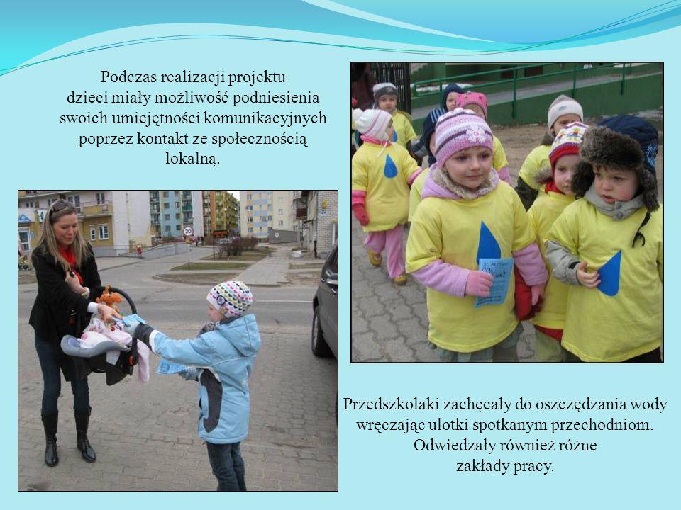 Podczas realizacji projektu dzieci miały możliwość podniesienia swoich umiejętności komunikacyjnych poprzez kontakt ze społecznością lokalną.