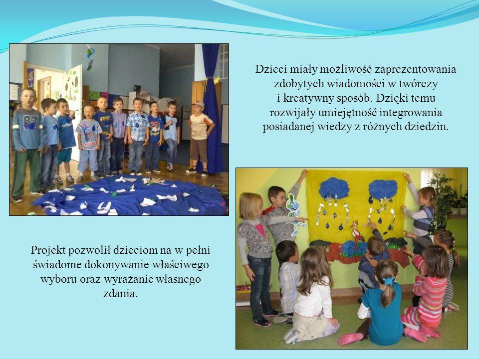 Dzieci miały możliwość zaprezentowania zdobytych wiadomości w twórczy