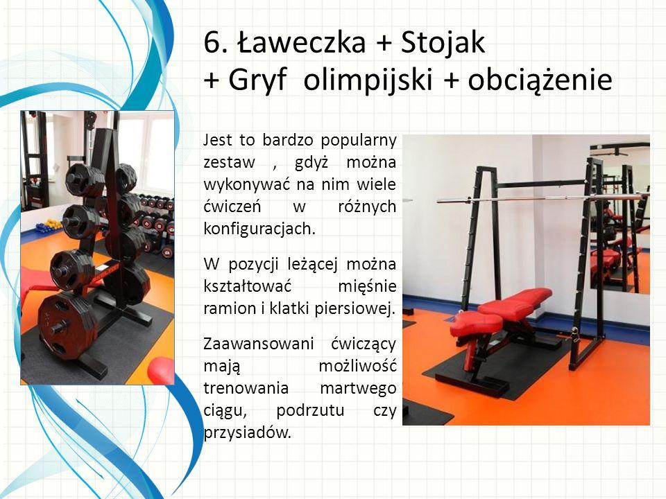 6. Ławeczka + Stojak + Gryf olimpijski + obciążenie
