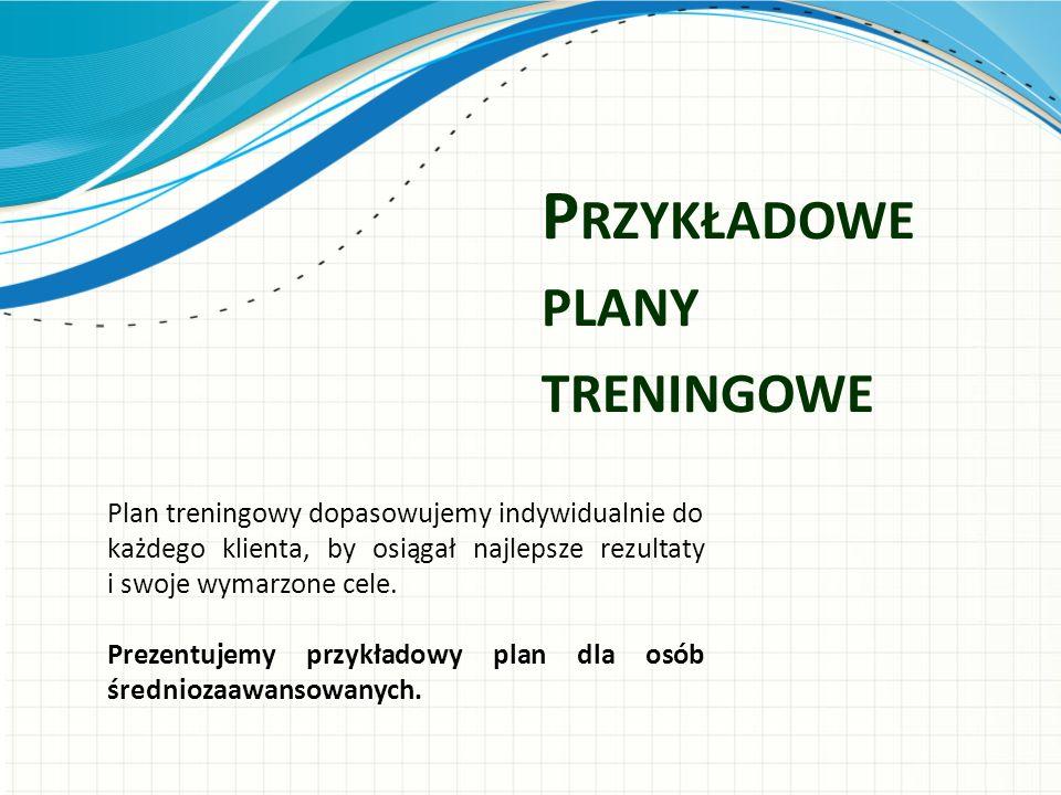 Przykładowe plany treningowe
