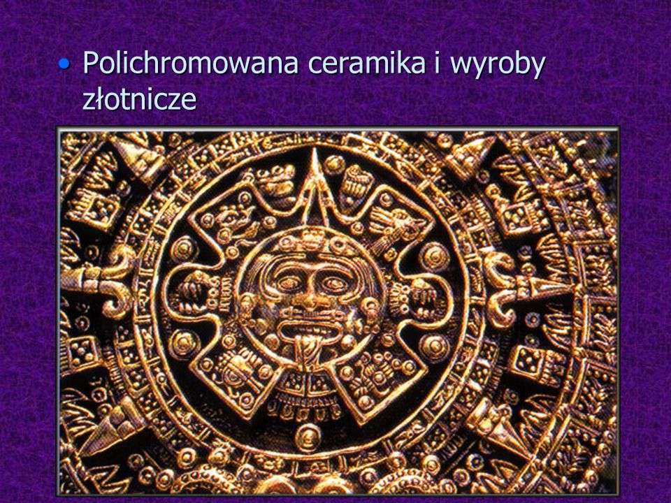 Polichromowana ceramika i wyroby złotnicze