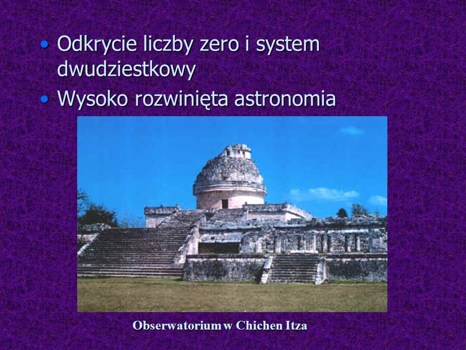 Obserwatorium w Chichen Itza