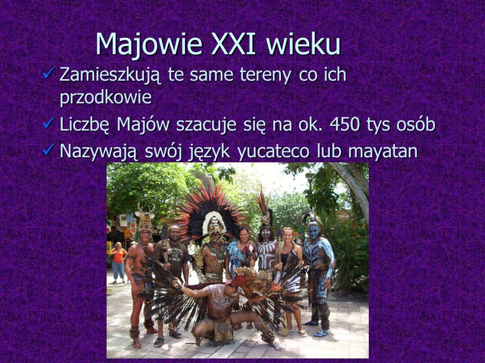 Majowie XXI wieku Zamieszkują te same tereny co ich przodkowie