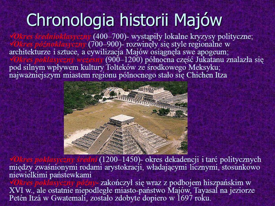Chronologia historii Majów
