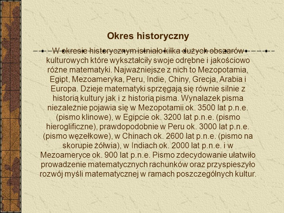Okres historyczny
