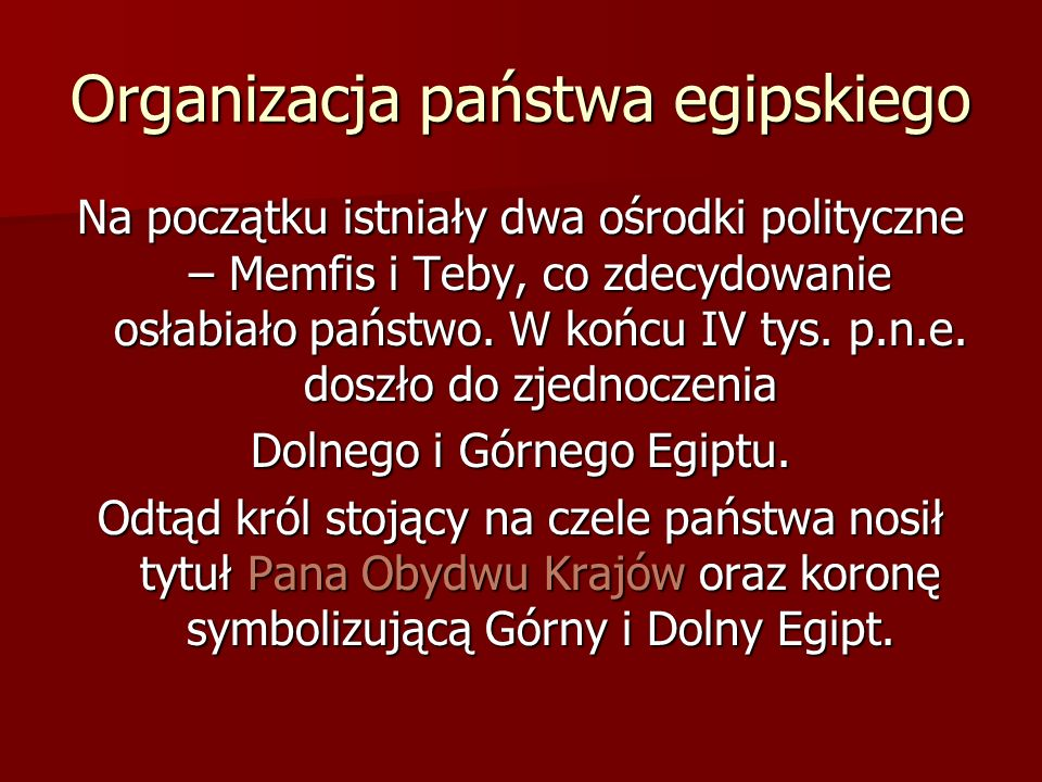 Organizacja państwa egipskiego