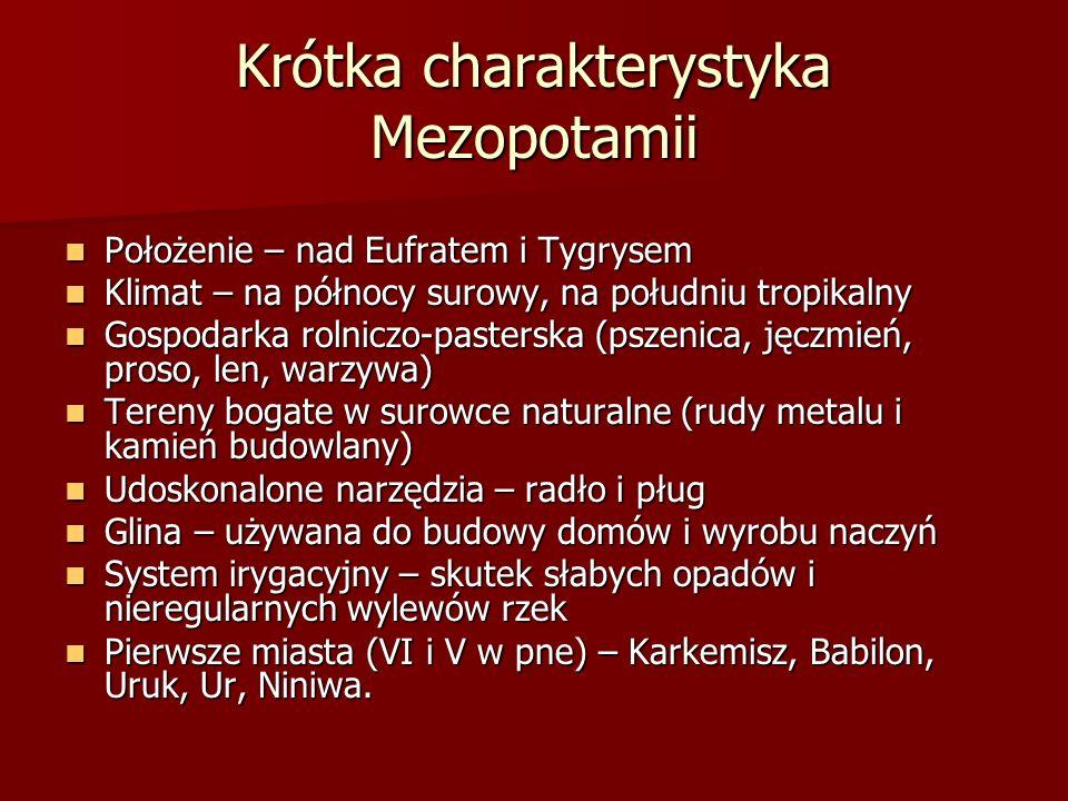 Krótka charakterystyka Mezopotamii