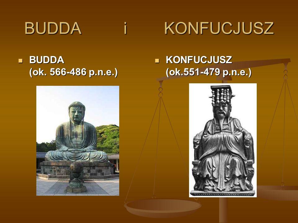 BUDDA i KONFUCJUSZ BUDDA (ok. 566-486 p.n.e.)