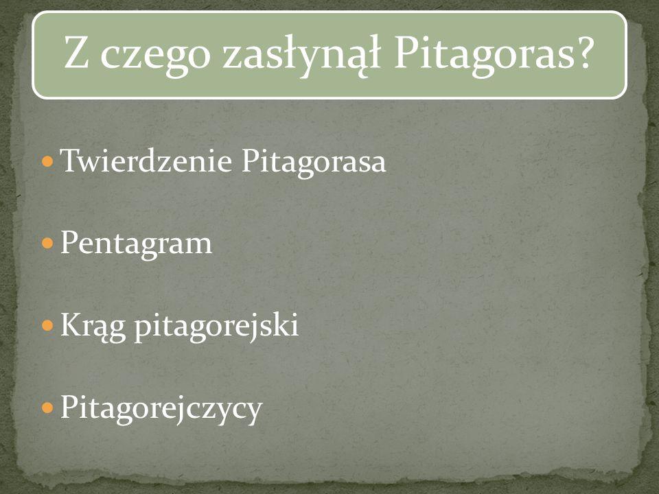 Z czego zasłynął Pitagoras