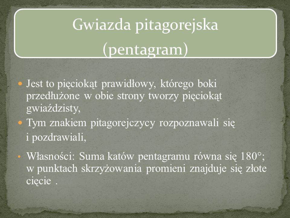 Gwiazda pitagorejska (pentagram)