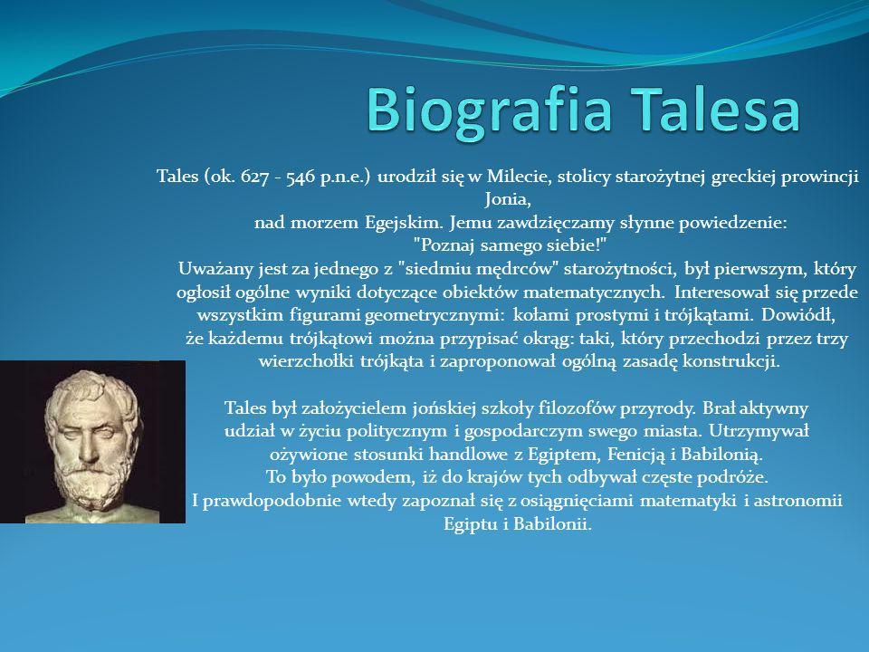Biografia Talesa