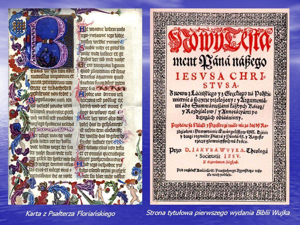 Karta z Psałterza Floriańskiego