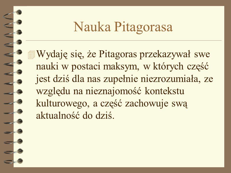 Nauka Pitagorasa