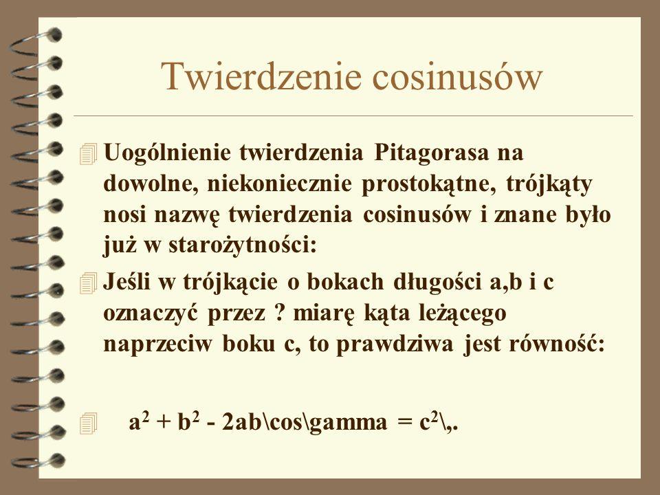 Twierdzenie cosinusów