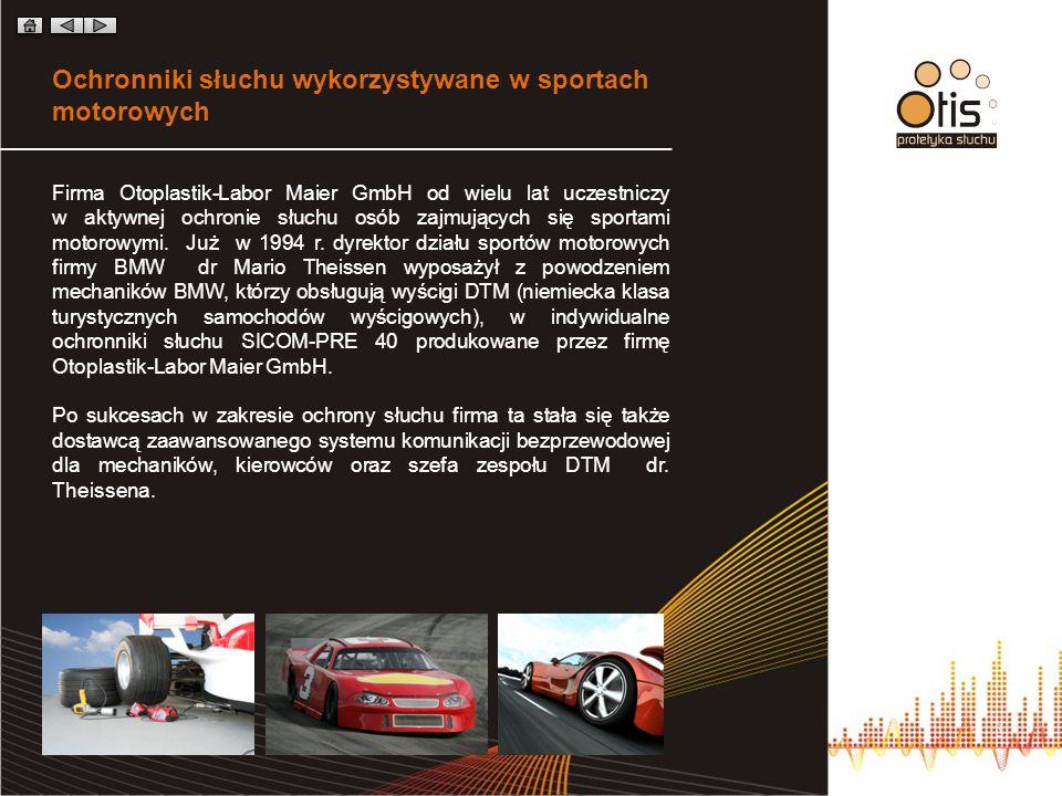 Ochronniki słuchu wykorzystywane w sportach motorowych