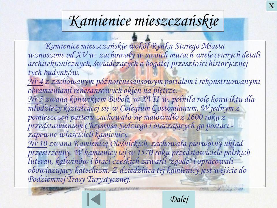Kamienice mieszczańskie
