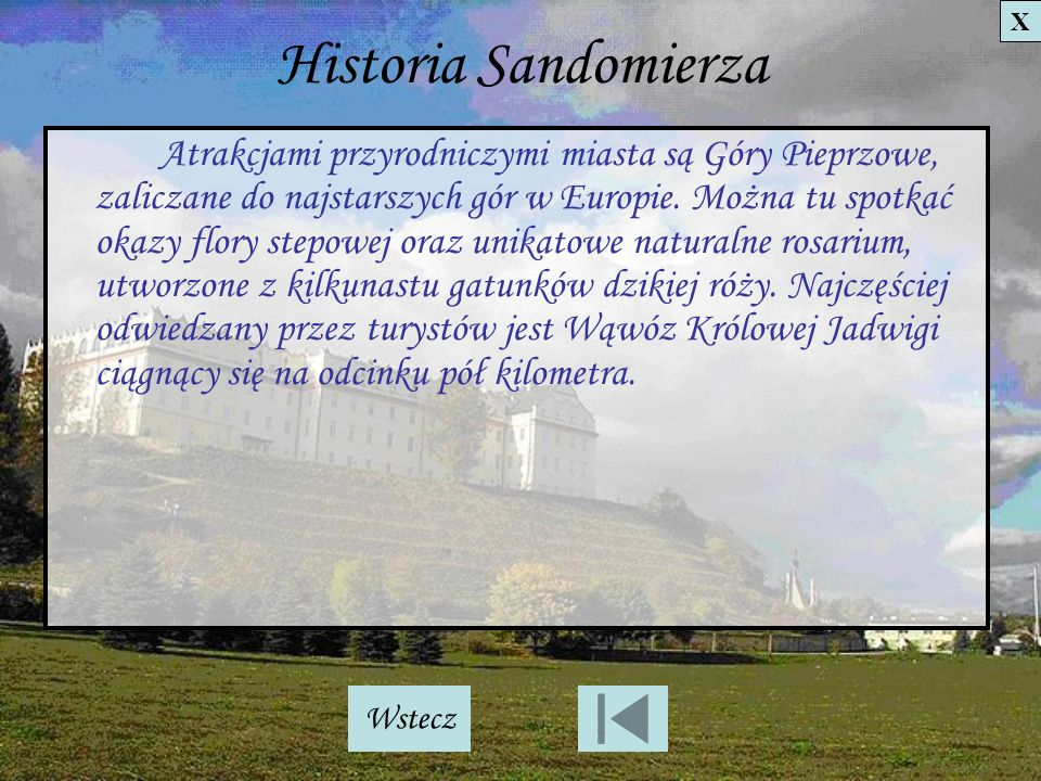 Historia Sandomierza X.