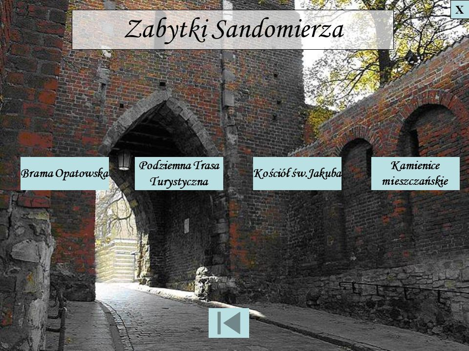 Zabytki Sandomierza Brama Opatowska Podziemna Trasa Turystyczna
